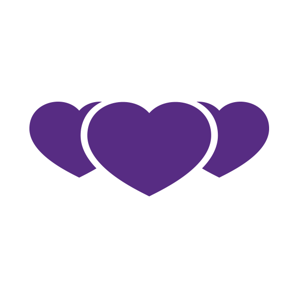Image of hearts that represents donations