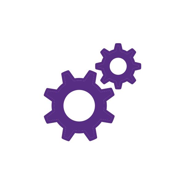 Cogwheel icon representing services